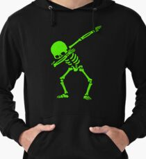 Dabbing Skeleton Green Lightweight Hoodie