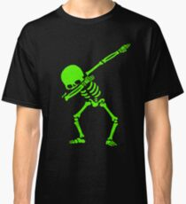 Dabbing Skeleton Green Classic T-Shirt