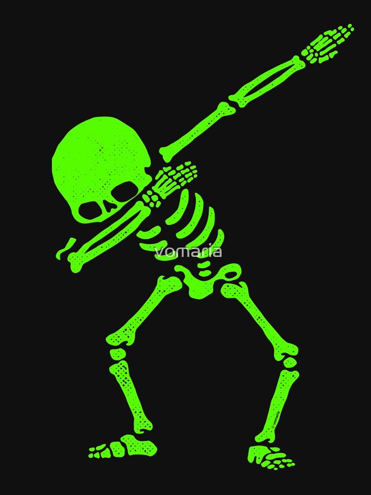 Dabbing Skeleton Green de vomaria