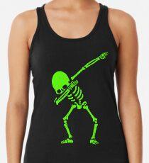 Skeleton Grün abtupfen Tank Top für Frauen