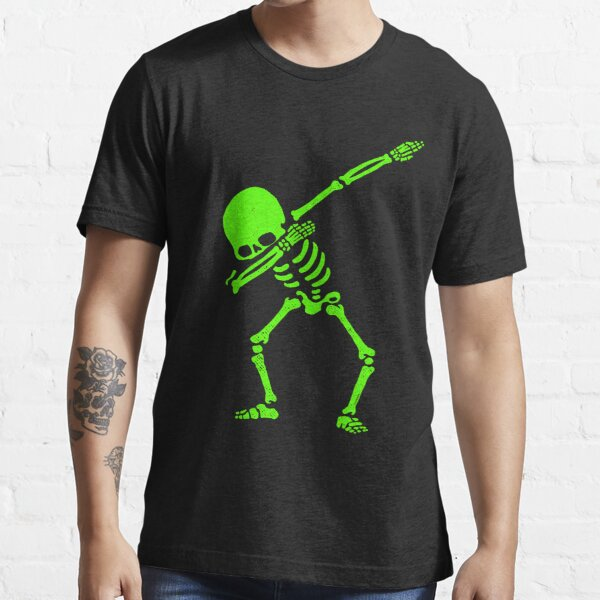 Dabbing Skeleton Green Essential T-Shirt