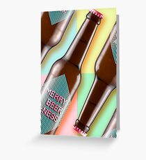 Merry beer ness! Greetings card. - Rainbow Greeting Card
