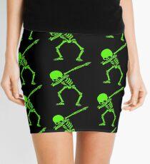 Skeleton Grün abtupfen Minirock