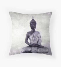 Buddha - JUSTART © Throw Pillow