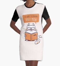 Reading Right Meow for book lovers Graphic T-Shirt Dress