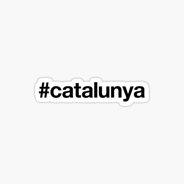 CATALUNYA Hashtag Pegatina