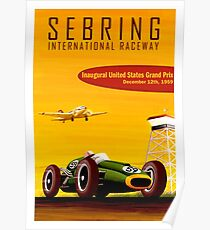 SEBRING: Jahrgang 1959 Grand Prix Autorennen Print Poster