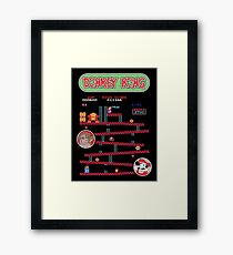 Classic Arcade Game Donkey Kong Featuring Mario Framed Print
