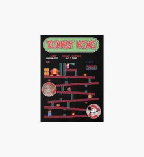 Classic Arcade Game Donkey Kong Featuring Mario Art Board