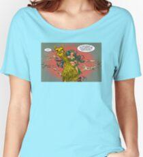 Golden Battle Llama Women's Relaxed Fit T-Shirt