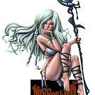 Psychedelic Barbarian Witch Mirrorwood Logo by HoneyDawwwg