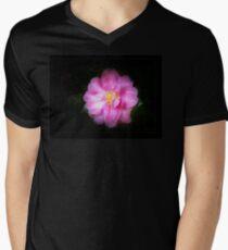 Camellia on Black Men's V-Neck T-Shirt