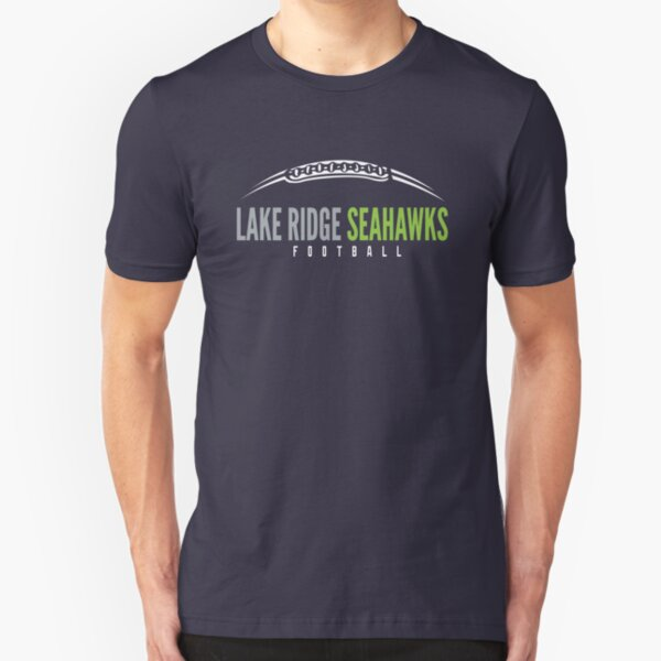 Lake Ridge Seahawks   Laces Slim Fit T-Shirt