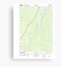 Maine USGS Historical Map Burnham 20110910 TM Canvas Print