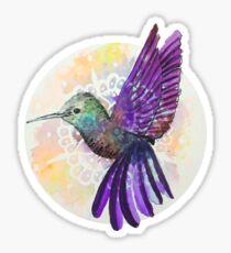 Hummingbird  - Purple Mandala Sticker