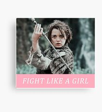 FIGHT LIKE A GIRL: ARYA Canvas Print