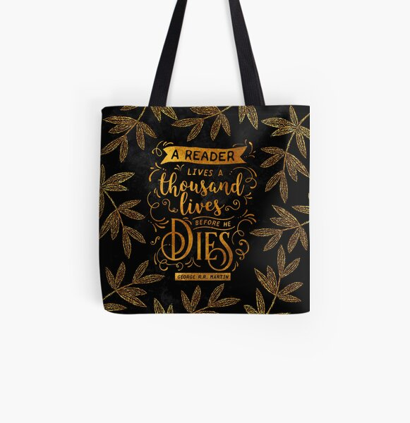 Thousand Lives Gold All Over Print Tote Bag