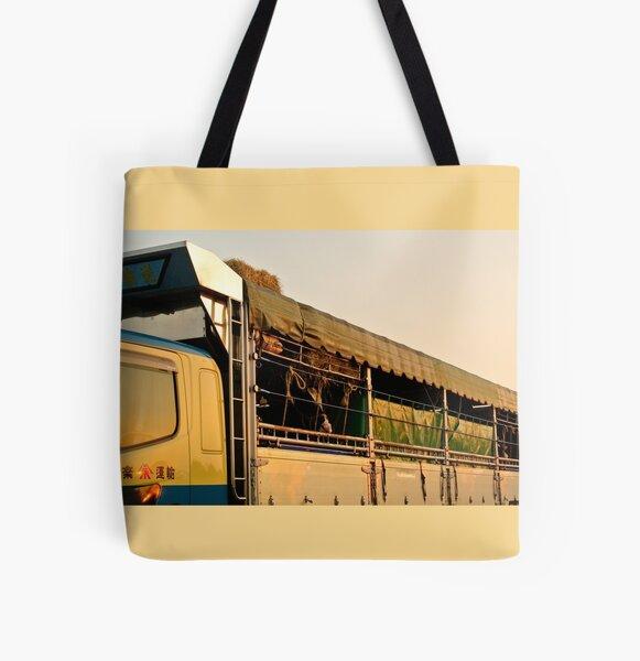 Bulls All Over Print Tote Bag