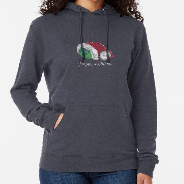 Cute Happy Holiday Hedgehog Lightweight Hoodie