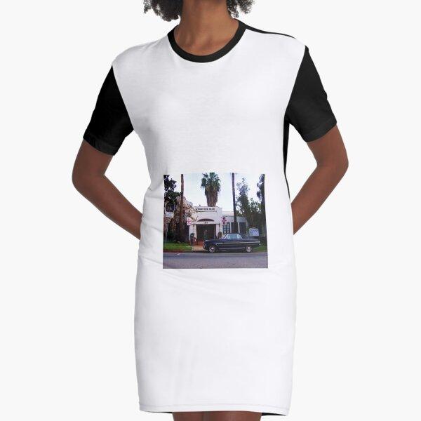 Theater Parking Graphic T-Shirt Dress