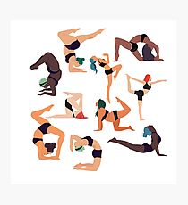 Let's All Do Yoga Photographic Print