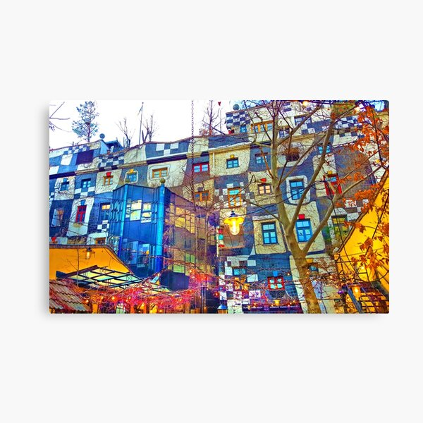 Hundertwasser Museum. Vienna. Austria Canvas Print