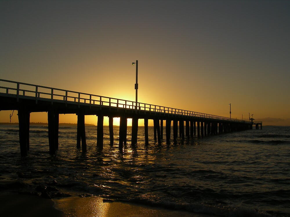 Pier into the light by Gordon Slater