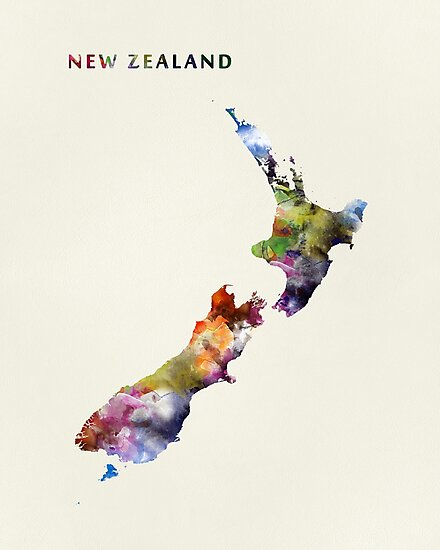 New Zealand by MonnPrint