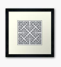 Cesàro Fractal - Square Framed Print
