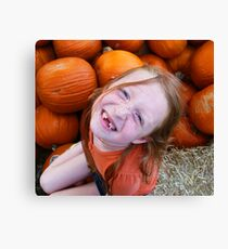 Jack-O-Lantern Face Canvas Print