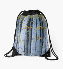 Ten Cardinals In Birch Trees Drawstring Bag