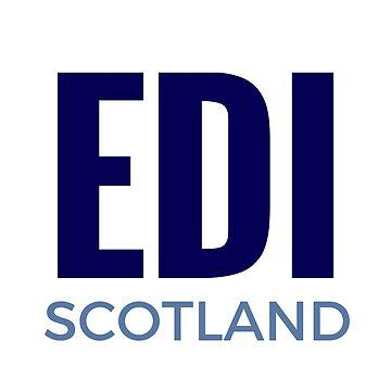 EDI - Scotland in Blue Edinburgh Abbreviation by TNTs