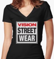 Vision Street Wear Women's Fitted V-Neck T-Shirt