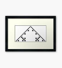 Koch Curve Fractal - 4 Steps Framed Print