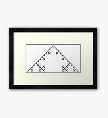 Koch Curve Fractal - 5 Steps Framed Print