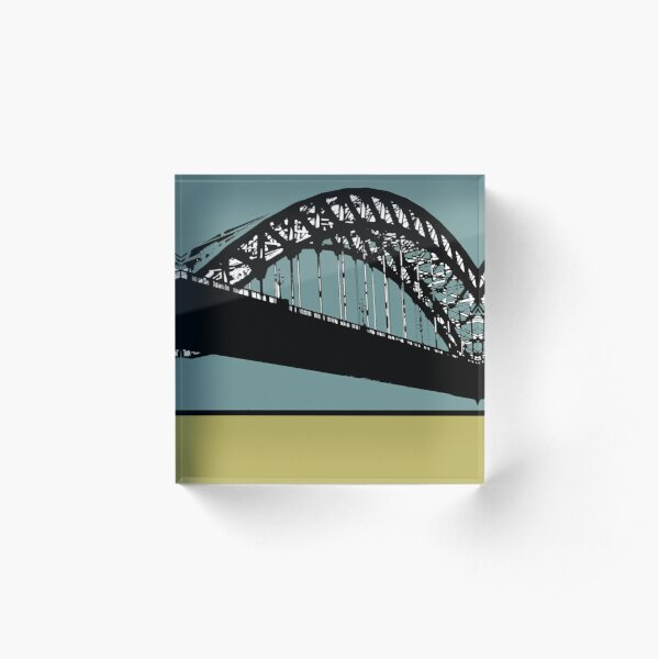 Tyne Bridge Acrylic Block