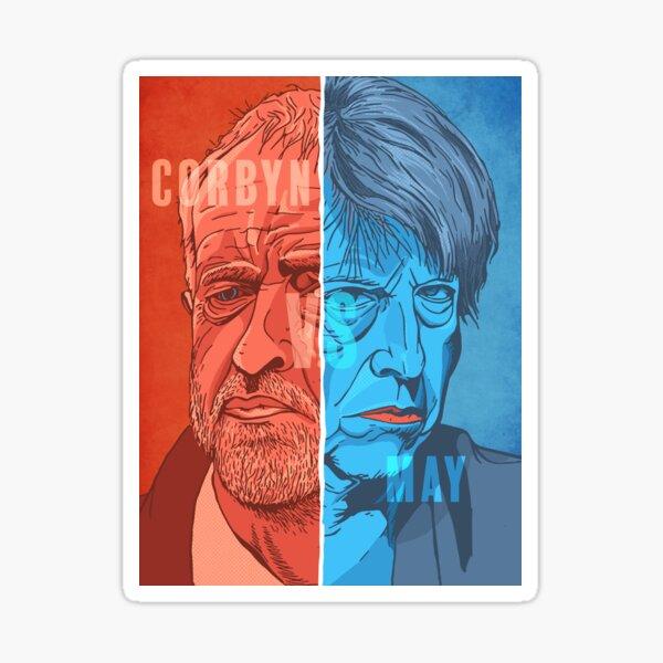 Corbyn vs May Sticker