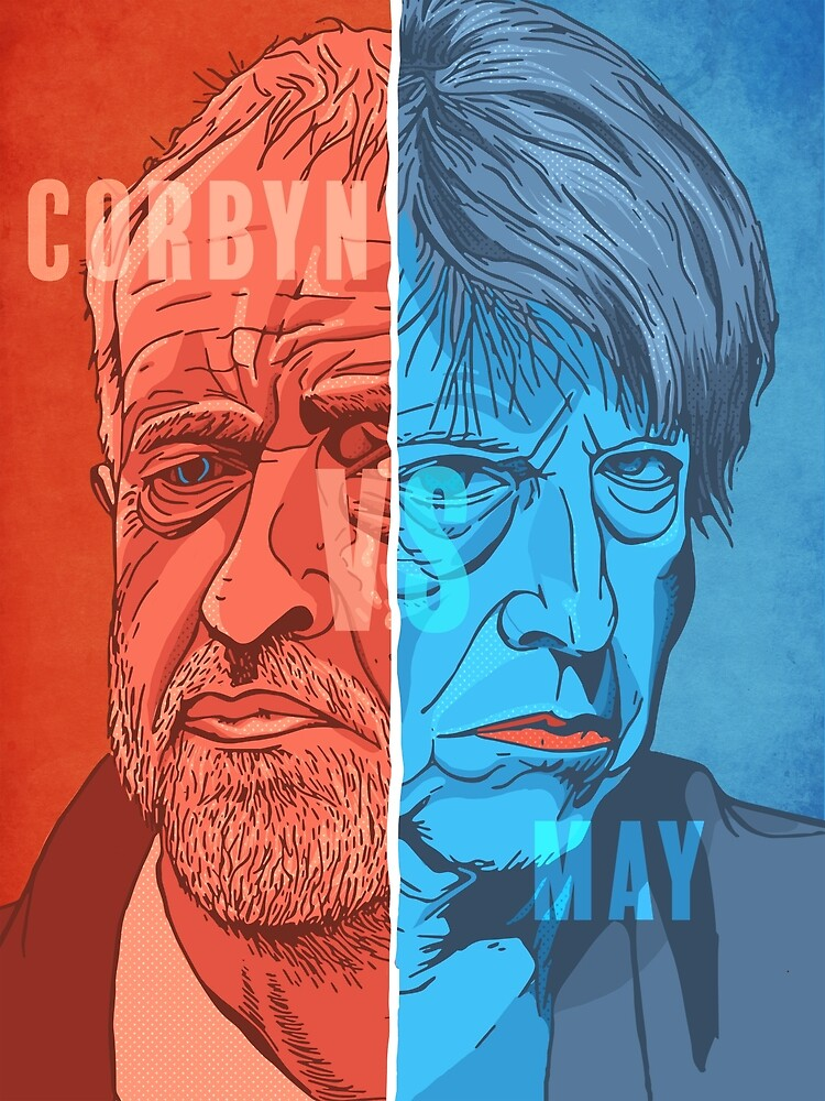 Corbyn vs May by James-Robinson