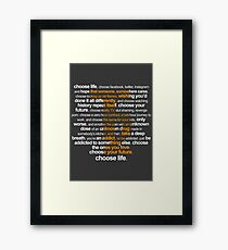 Trainspotting 2 Framed Print