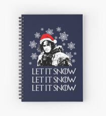 Let it snow - Christmas  Spiral Notebook