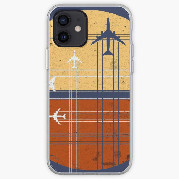 747 Sunrise | Jumbo retro vintage Funda blanda para iPhone