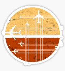 747 Sunrise | Vintage Retro Jumbo Jet Sticker