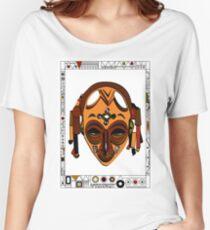 African Mask Camiseta ancha para mujer