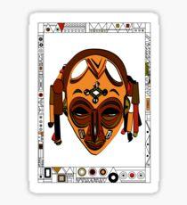 African Mask Pegatina