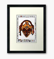 African Mask Lámina enmarcada