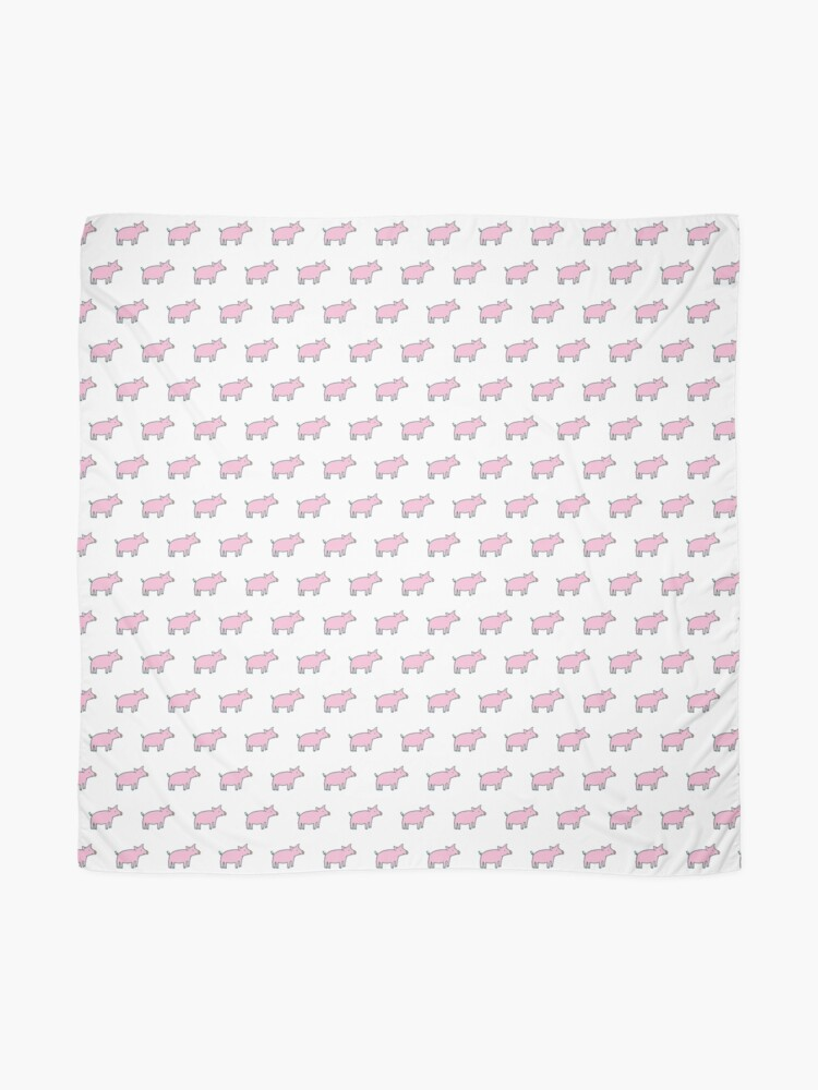 Alternate view of Simple Pig - pink and white - cute animal pattern by Cecca Designs Scarf