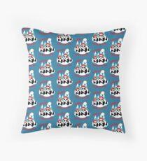 Cute Happy Christmas Panda Bears Snow Scene Floor Pillow