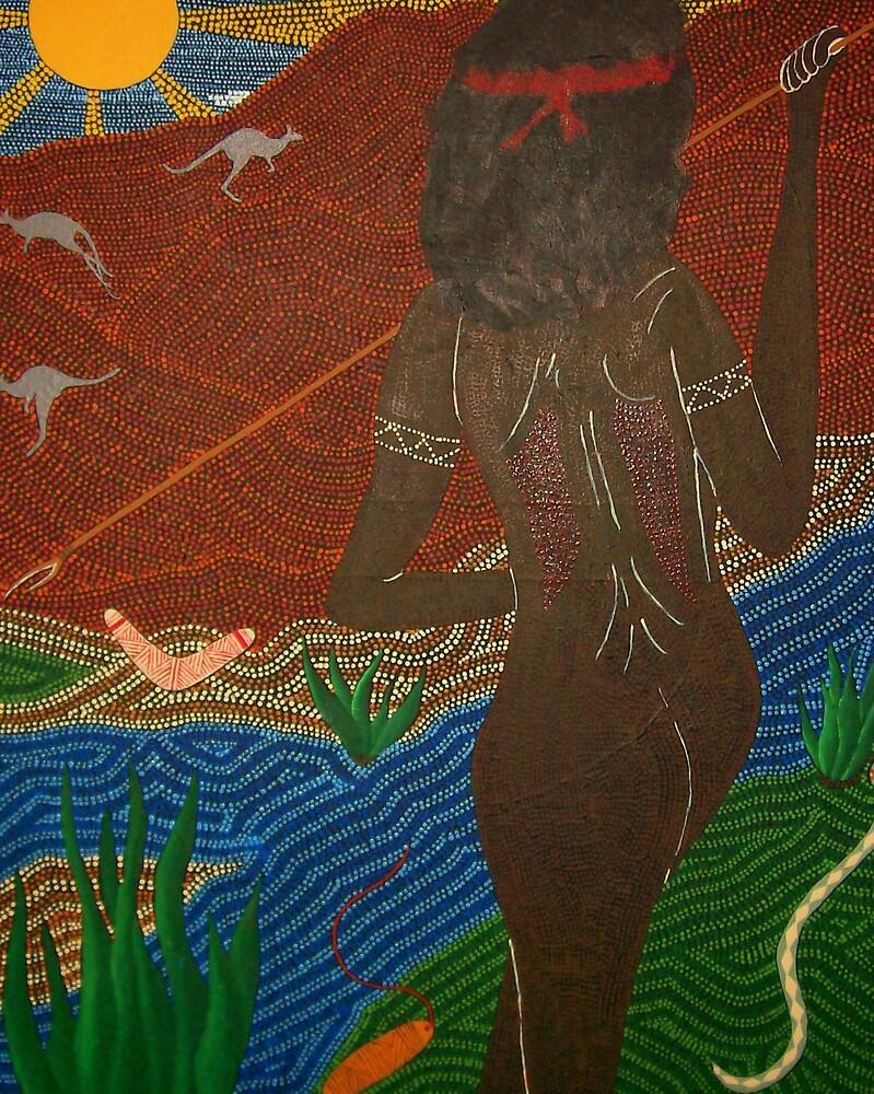 Aboriginal Hunter by Derek Trayner