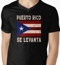 Puerto Rico Strong Se Levanta Shirt Men's V-Neck T-Shirt