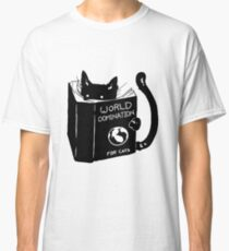 Funny Cat Gifts - World Domination - Best Cute Gift for Him, Her, Men, Women, Boyfriend, Girlfriend, Best Friend, Husband, Wife, Son, Daughter, Dad, Mom, Couples, Brother or Sister Classic T-Shirt
